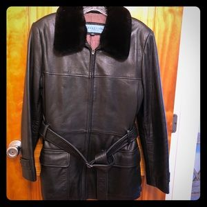Leather Kenneth Cole Jacket